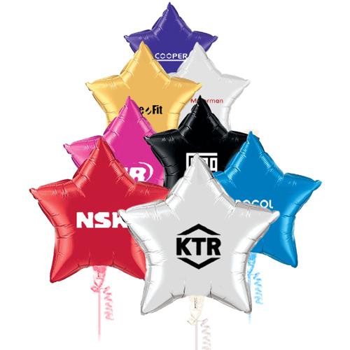 36 inch custom printed star shaped microfoil balloons