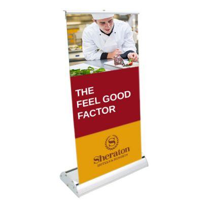Promotional Logo Deluxe Mini Retractor Graphic Banner Kit