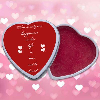 Custom Heart Shaped Lip Moisturizer Tins