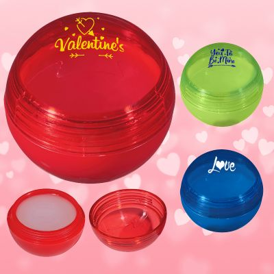 Personalized Valentine Lip Gloss Balls