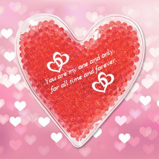 Promotional Heart Shape Gel Beads Hot / Cold Pack