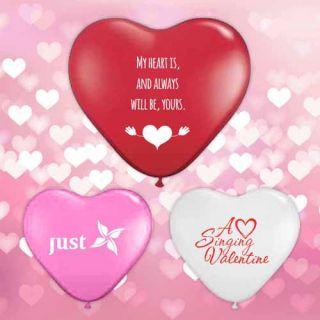 11 Inch Promotional Qualatex Heart Shape Latex Balloons