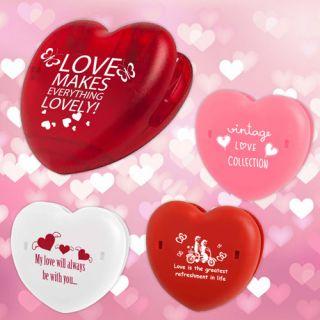 Custom Imprinted Heart Shape Keep-It Clips