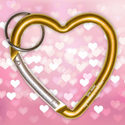 Custom Imprinted Valentine Heart Shape Carabiners