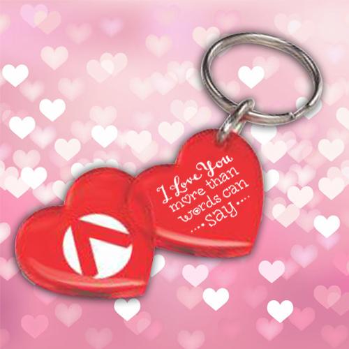 Custom Printed Acrylic Double Heart Keychains