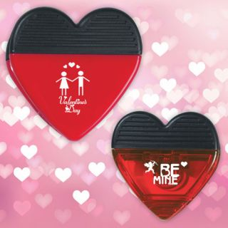 Custom Printed Heart Shape Clips