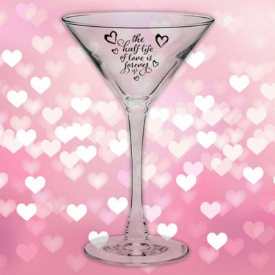 Custom Printed Tall Stem 7.25 Oz Martini Glasses