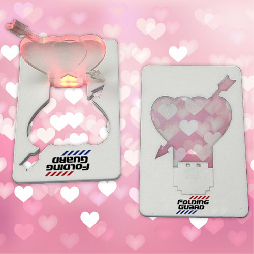 Credit Card Size Heart Shape LED Flashlights