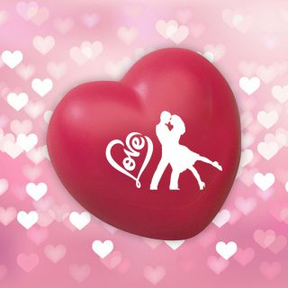 Promotional Valentine Heart Shape Stress Relievers