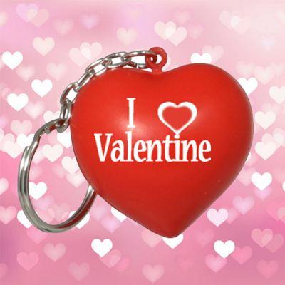 Promotional Valentine Heart Keychains