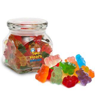 Custom Imprinted Gummy Bears in Small Glass Jar
