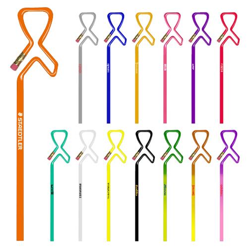 Custom Awareness Ribbon Shaped Pencils
