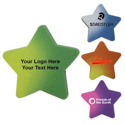 2 Inch Custom Printed Star Shaped Mood Die Cut Erasers
