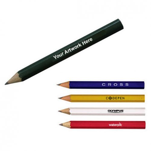 Custom Printed Hex Golf Pencils Traditional Pencils