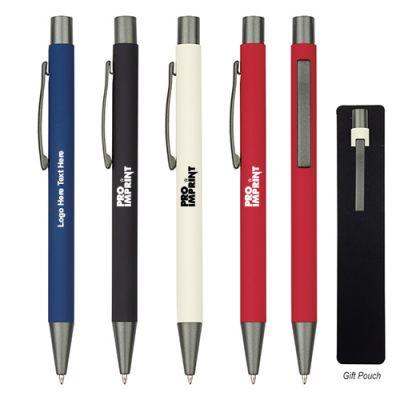 Custom Printed Matte Color Rubberized Aluminum Pens