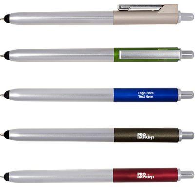 Custom Printed Ambient Metallic Click Duo Stylus Pens