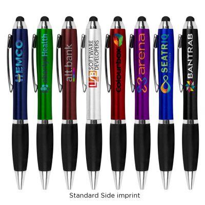 Custom Printed Anti-Germ Grenada Antimicrobial Pen with Stylus Tip