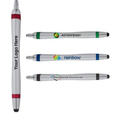 Logo Imprinted Scripto Elliptic Ballpoint Pens with Stylus
