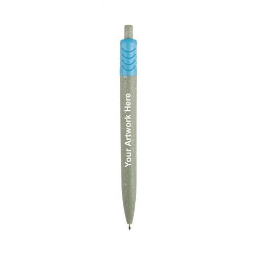 5.5 Inch Logo Imprinted Recycled Tetra Pens - 4 Colors