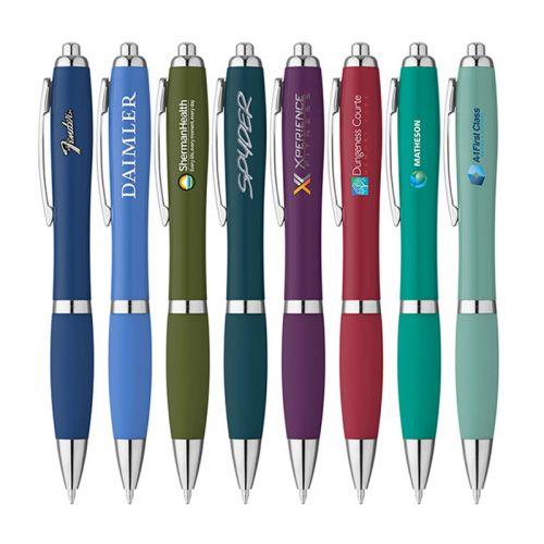 Curvy Matte Ballpoint Pens