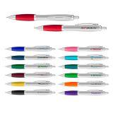 Personalized Curvaceous Silver Matte Gel Pens