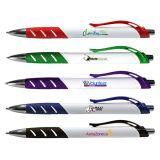 Custom Printed Full Color White Allure Grip Pens