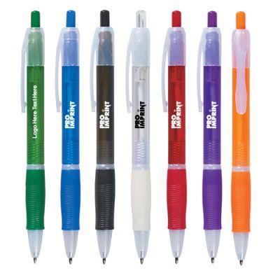 Promotional Plunger Action Spectrum Plastic Pens