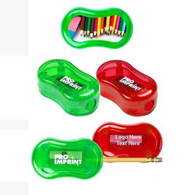 Custom Imprinted Oval Shape Pencil Sharpeners
