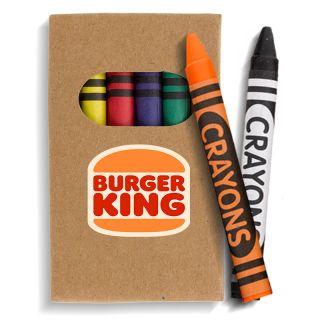 Custom Imprinted 6-Piece Crayon Sets