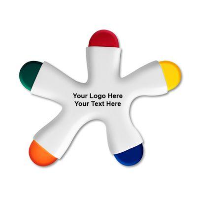 Promotional  Fun Crayon 5 Color Crayon-ASI Product Design Award Winner