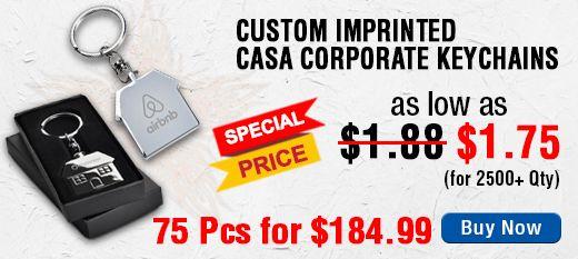 Custom Imprinted Casa Corporate Keychains