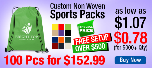 Custom Non Woven Sports Packs