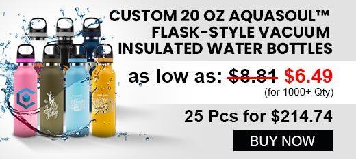 20 Oz AquaSoul™ Vacuum Insulated Water Bottles