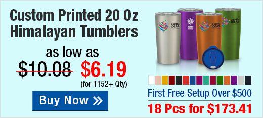 Custom Printed 20 Oz Himalayan Tumblers