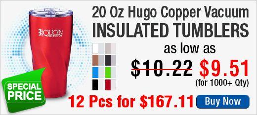 20 Oz Hugo Copper Vacuum Insulated Tumblers