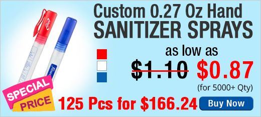 Custom 0.27 Oz Sanitizer Sprays