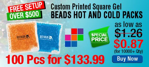 Custom Printed Square Gel Beads Hot and Cold Packs