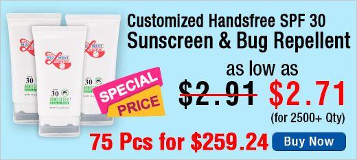 Customized Handsfree SPF 30 Sun and Bug Sunscreen