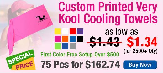 Custom Printed Very Kool Cooling Towels