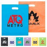 15 x 18 x 4 Custom Plastic Bags with 7 Colors