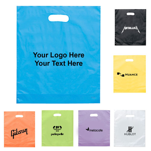 15 x 18 x 4 custom plastic bags with 7 colors plastic bags - Custom Plastic Bags